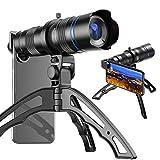 funks スマホ 望遠レンズ 20〜40倍 三脚付き iphone android セルカレンズ スマホ用望遠レンズ クリップレンズ スマホ用カメラレンズ 40倍