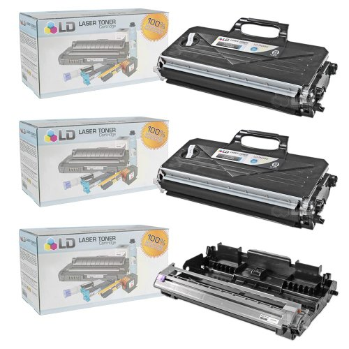 LD Compatible Toner Cartridge & Drum Unit Replacements for Brother TN360 High Yield & DR360 (2 Toners, 1 Drum, 3-Pack)
