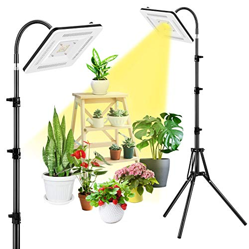 Grow Lights for Indoor Plants, Full Spectrum 300W LED Grow Lights with Stand,Plant Growing Lamps with Tripod Adjustable 16-63 inch & Gooseneck