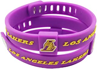 ENJOY 11 NBA Basketball Team Adjustable Silicone Bracelets Wristbands, a set of two