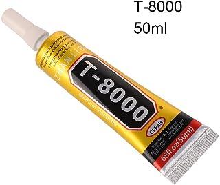 T8000 pegamento claro resina epoxi pegamento para vidrio maceta cristal DIY Rhinestones adhesivo (50ML)