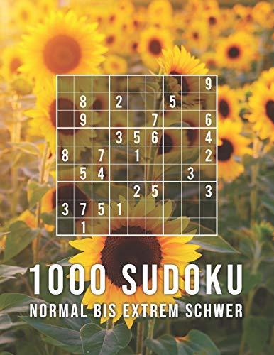 1000 Sudoku - Normal Bis Extrem Schwer: Die Große Rätsel Sammlung   Tolles Geschenk für Erwachsene, Großeltern, Senioren   Rätselbuch mit Lösungen