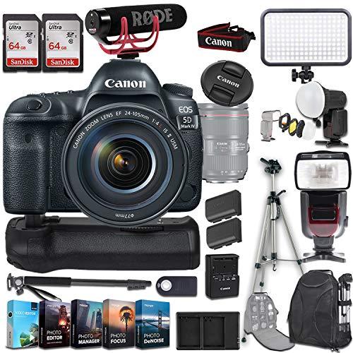 Fantastic Deal! Canon EOS 5D Mark IV DSLR Camera w/EF 24-105mm f/4L is II USM Lens + Accessory Bundl...