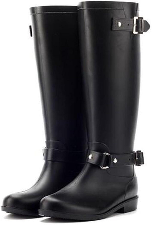 Meijunter Fashion Womens Waterproof Rainboots High Tube Rubber Rain Boots shoes Non-Slip