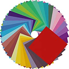 Origami Paper 200 Sheets - Much Suitable for Schools,Teachers and Beginners that Need Great Origami Paper 20 Vivid and Vibrant Colors Colored Paper - Same Color Both Sides Holds a Crease - Won't Curl at Edges Most Popular Size 6 Inch by 6 Inch - Fold...