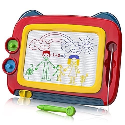 TENOL Maltafel Zaubertafel Stempel Kinder Maltafel für Kinder ab 3 Kleinkinder Spielzeug ab 3 Jahre Magnet Spiele für Kinder Zaubertafel Kinder ab 4 Jahre Magnete Kinder Mädchen Spielzeug ab 5 Jahre