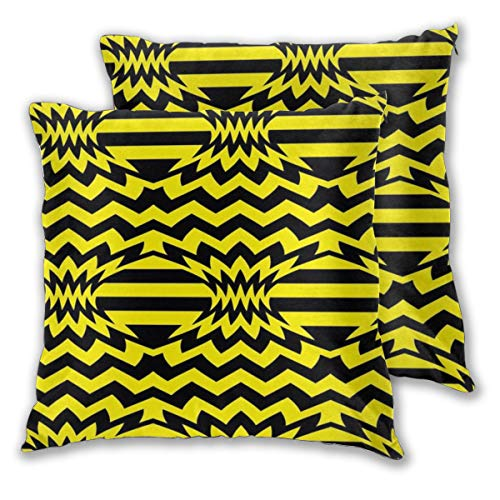 Cocoal-ltd Pineapple Chevron Throw Pillow Case Daily Decoration Lumbar Pillow Covers Sofa Bedroom Car Cushion Cover Zip Square Pillow Cover 18'x 18'