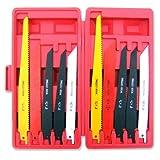 Reciprocating Saw Blades | 10pc Set Electric Sawzall Hackzall Metal Wood 1/2' (MEE TONG SHOP)