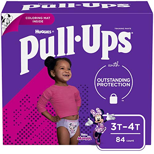 Pull-Ups Learning Designs Girls' Training Pants, 3T-4T, 84 Ct