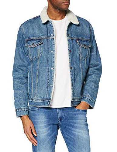 Levi's Type 3 Giacca, Fable Sherpa Trucker, L Uomo