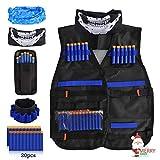 LOYO Kids Tactical Vest, Adjustable Tactical Vest Jacket Kit for Nerf Toy Gun N-Strike Elite Series with 20Pcs Soft Foam Darts Bullets & 1Pcs 8-Dart Wrist Band