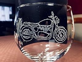 Copa de Gin Tonic con moto, grabada a mano. ¡EXITO TOTAL¡.Es un buen regalo para los amantes de las motos y el GinTonic....