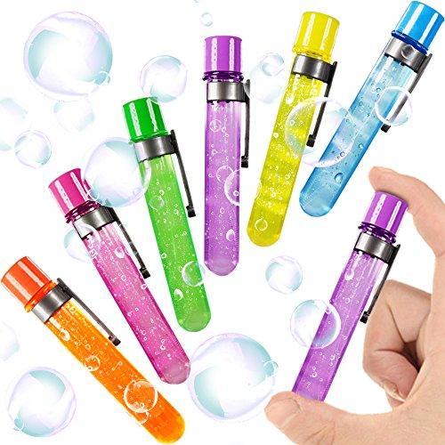 German Trendseller 12 x Anfassbare Seifenblasen - Reagenzglas ┃ NEU ┃ Magische Party Bubbles ┃ Mitgebsel ┃ Kindergeburtstag ┃ 12 Stück