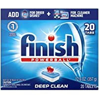 20-Count Finish All in 1 Powerball Fresh Dishwasher Detergent Tablets