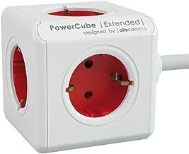 Segula tafelstopcontact PowerCube ext. 5-voudig rood 1, 5m 50450