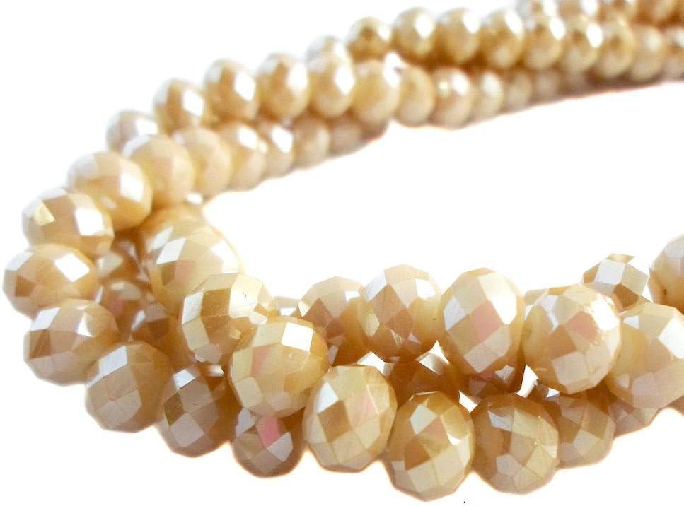 Seven Amber/'s Ocean Rondelle Beads 10405501 SALE Handmade Glass Lampwork Bead Set