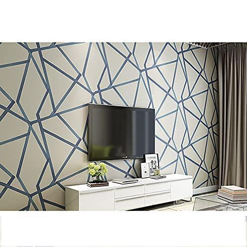 HFSKJ Papel Tapiz geométrico 3D para diseño triángulos Moderno a Rayas, para Dormitorio y Sala de Estar decoración del hogar