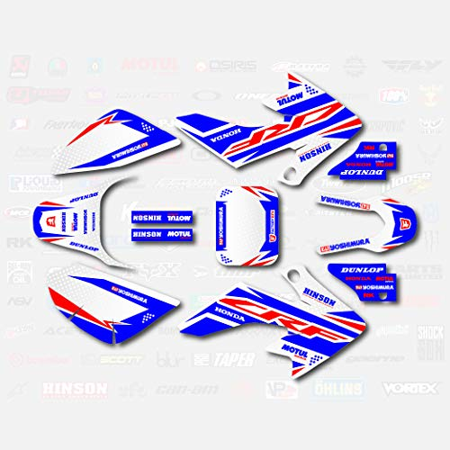 Red White & Blue Shift Graphic Kit fit Honda 04-19 CRF50 Shroud Decal CRF 50 pitbike