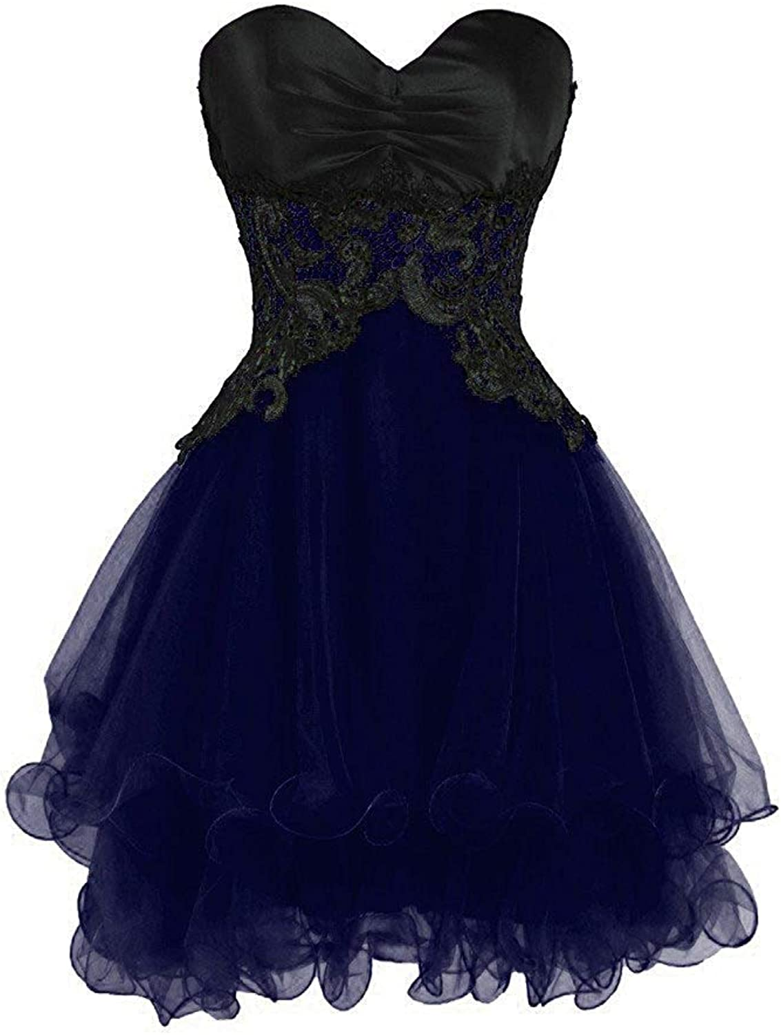 Sweetheart Lace Homecoming Cocktail Dresses Short Bridesmaid Dress Appliques Prom Gowns