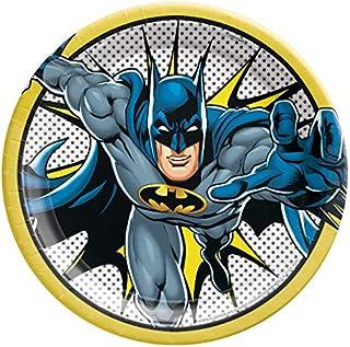 Justice League Batman Design Round Paper Plates-8pc