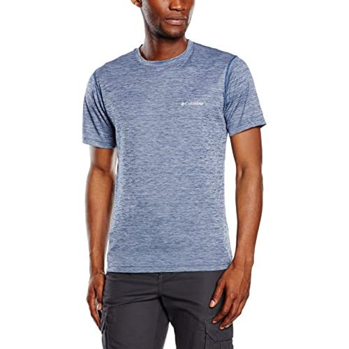 Columbia T-Shirt a Maniche Corte da Uomo, Zero Rules Short Sleeve Shirt, Poliestere, Blu (Carbon Heather), Taglia: M, 1533313