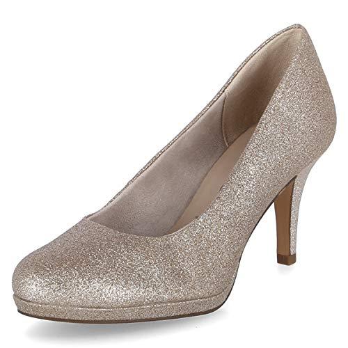 Tamaris Zapatos de tacón para mujer., color Dorado, talla 42 EU