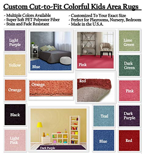 Koeckritz Rugs Custom Sized Colorful Area Rugs Area Rugs with Premium Bound Edges. You Measure The Space, and We