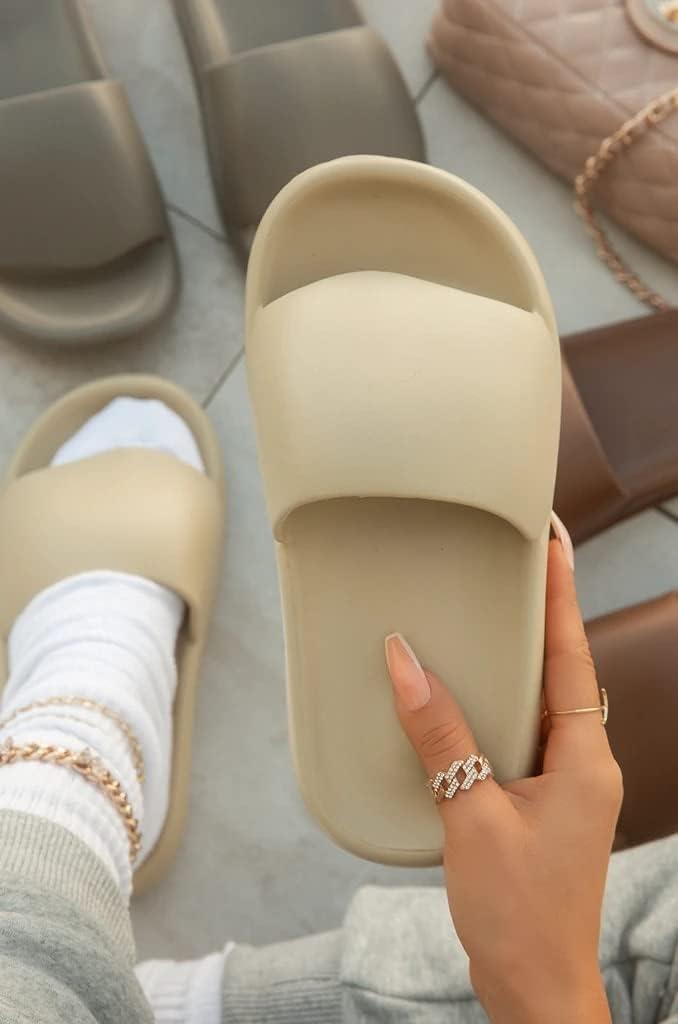DTTBlue Fashion Trend Slippers Women Indoor EVA Platform Wedges Heel Non Slip Bathroom Home Slides Punk Design Shoes Ladies Female
