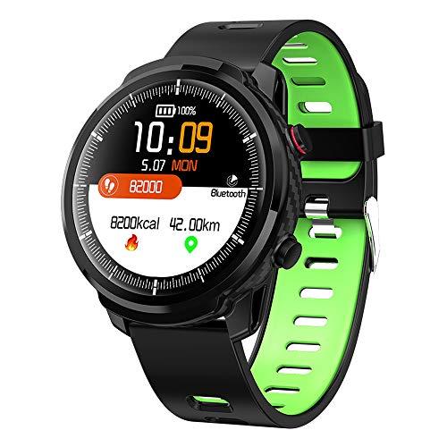 Covok klassieke Smartwatch-IP68 waterdichte bluetooth-horloge, bloeddruk-oximetrie-hartslagmeting, compatibel met sportarmbanden, stappenteller-mannelijke en vrouwelijke fitness GPS-tracker-kleurendisplay, groen