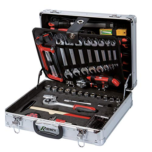 Ribimex PRKOUT149VA Valigetta Utensili manuali, 149 Pezzi, Aluminium