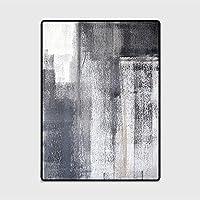 インクブラックグレーベッドルームキッチンドアマットリビングルームフロアマット、リビングルーム、ベッドルーム、クローク、書斎、レジャーエリアに適しています(カスタマイズをサポート)ポリエステル100%(Size:80x160CM(31.4x62.9in),Color:A2)