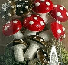 Meyer Imports Red & Brown Mix - Large Spun Cotton - Set of 10 - 218-0117 Wonderful World Of Spun Cotton Mushrooms!