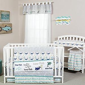Trend Lab Dr. Seuss New Fish 5Piece Crib Bedding Set