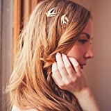 Tgirls Fashion 2Pcs Flying Swallow Hairpin Bird Hair Clip Bridal Hair Accessories for Women and Girls (Gold)