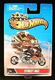 STREET NOZ (Gray & Black) MOTORCYCLE & RIDER Hot Wheels 1:64 Scale 2012 Die-Cast Vehicle