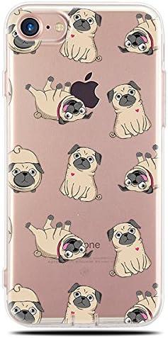 17. Blingy's Pug Style Transparent Phone Case