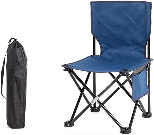 LBYMYB Chaise Chaise Pliante en Plein air Chaise de Camping Chaise portable Chaise de Plage Chaise de pêche Tabouret Bleu Chaise Pliante