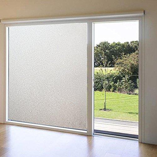 MEXITAL Raam melkgasfolie zelfklevende privacy-film raamfolie voor badkamer slaapkamer, kantoor statische hechting, hoge UV-bescherming 45x 200cm