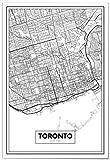Panorama Poster Karte von Toronto 50 x 70 cm - Gedruckt auf