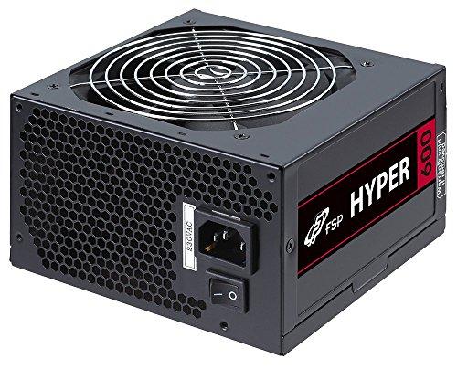 FSP Fortron Hyper 600 PC-Netzteil (600 Watt, ATX 2.31, Effizienz mehr als 85%), 5 Jahre Hersteller Garantie, schwarz