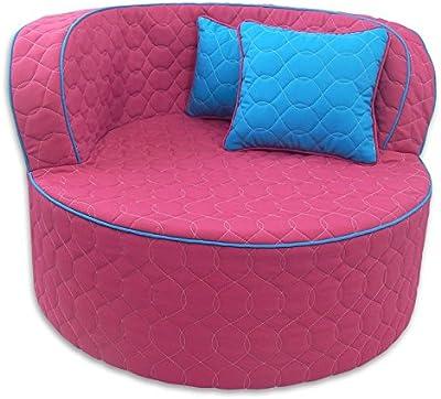 Fun Furnishings Throw Back Chair, Hot Pink