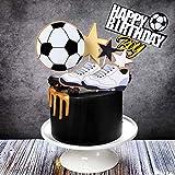 JeVenis Football Cake Topper Décoration De Gâteau D'anniversaire De Football pour Garçon Football Cake Topper