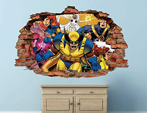 Wandtattoo King Kong brick wall decal decoration smashed 3d sticker art vinyl