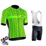Fxwj Conjunto Ropa Traje Ciclismo Hombre para Verano Maillot Manga Corta +Culotte Pantalones Culote Bicicleta Pro Equipo Bicicleta Jersey,B,5XL