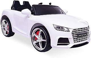 سيارة كهربائية للاطفال بقدرة 12 فولت، تتسع لاربعة اطفال، مزودة بجهاز تحكم عن بعد، بموسيقى واضواء، (اللون: ابيض)، من نوفيلي...