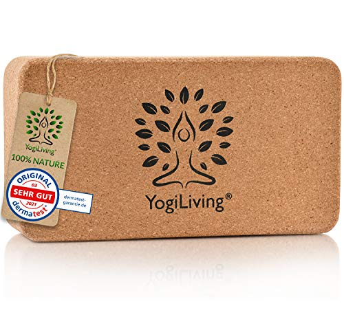 Yogiliving Yoga Block | 100% Naturlig Produkt | Yoga Block Cork