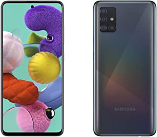 "Samsung Galaxy A51 Smartphone, 2.3 GHz, 1.7 GHz Octa-Core, 6 GB, 128 GB ROM, 6.5"" Display, Android 10, Prism Crush Black"