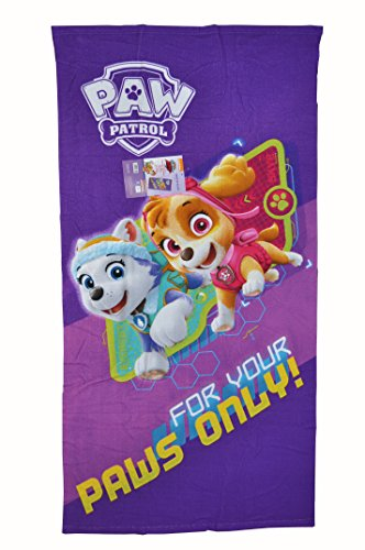 Patrulla Canina - Toalla Infantil Microfibra 70 x 140 cm, diseño Skye y Everest, for Your Paws Only.