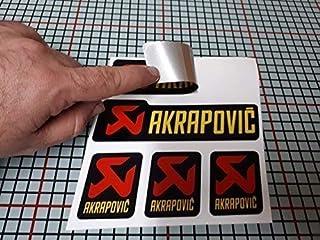 180/° Autocollant Sticker Compatible avec Akrapovic Yamaha Tmax /Échappement Tube Aluminium Haute Temp/érature