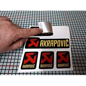 Sticker Adesivo Sticker Adesivo Adesivo Decals Autocollants Compatibile con Akrapovic Tubo Scarico Alluminio Alta Temperatura + 180º Vinile Laminato Auto Moto Ref 2